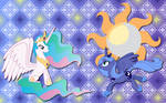 Luna and Celestia wallpaper 5