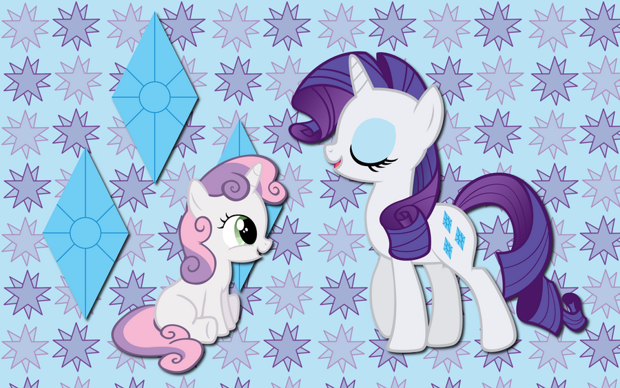 Rarity and Sweetie WP by AliceHumanSacrifice0