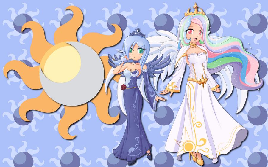 Human Luna and Celestia WP by AliceHumanSacrifice0 on ...