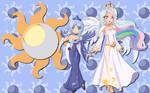 Human Luna and Celestia WP