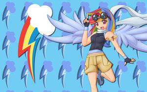 Human Rainbow Dash WP by AliceHumanSacrifice0