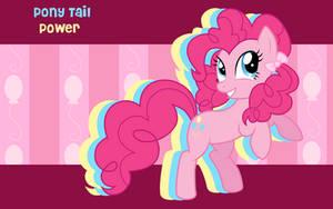 Pony Tail Power Pinkie Pie WP by AliceHumanSacrifice0