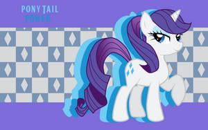 Pony Tail Power Rarity WP by AliceHumanSacrifice0