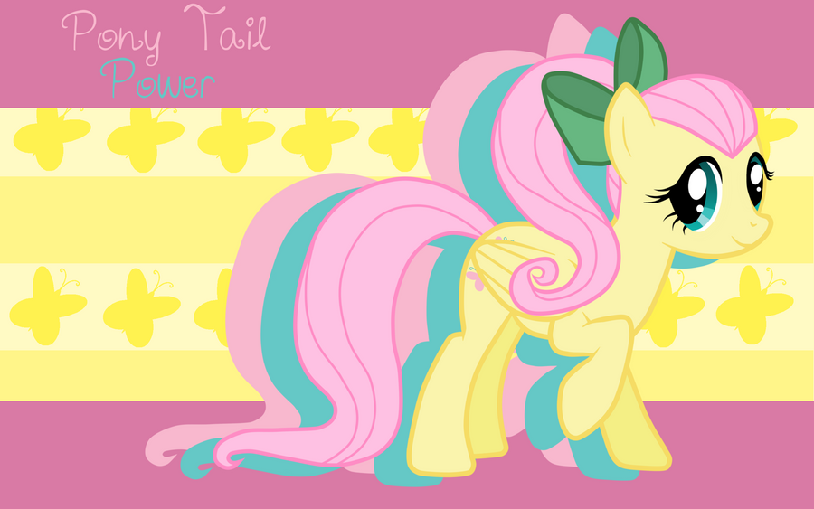 pony tail power fluttershy wp by alicehumansacrifice0 on