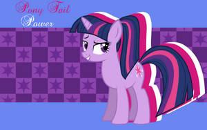 Pony Tail Power Twilight Sparkle WP by AliceHumanSacrifice0