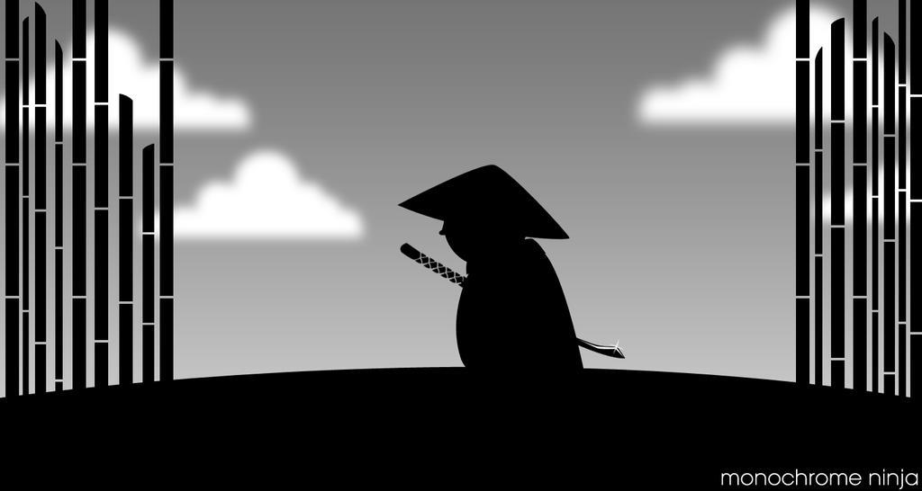 Monochrome Ninja by sohansurag