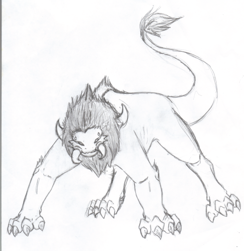 Nemean lion drawing - photo#1