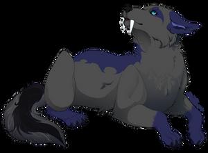 Art Trade - Sam the fanged Wolf