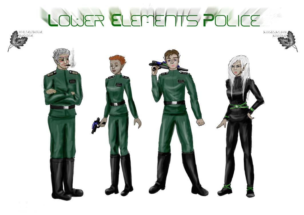 L.E.P. _Lower Elements Police_ by BeatrixBonnie
