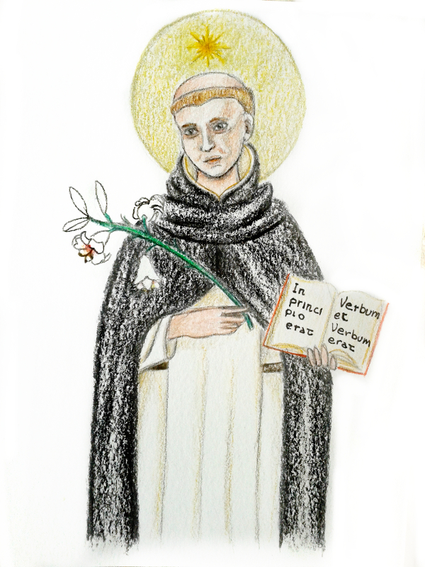 Saint Dominic and the Gospel by BeatrixBonnie