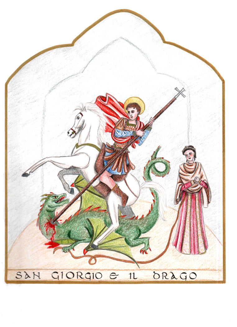 Saint George and the dragon by BeatrixBonnie