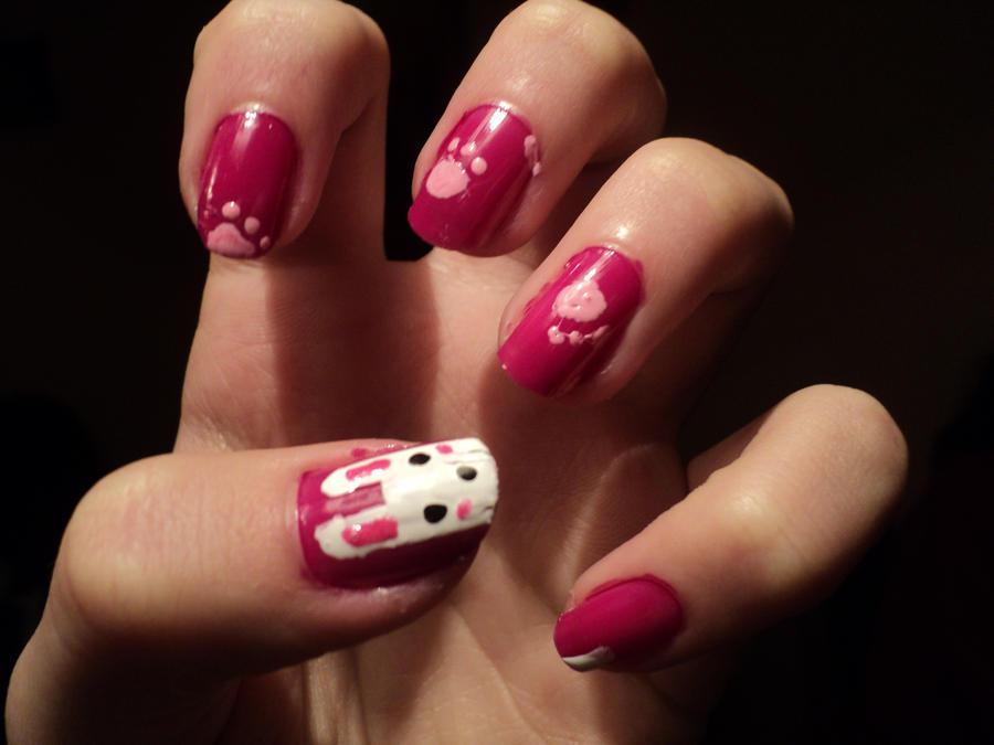 nail art : bunny