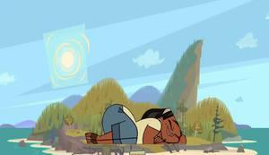 Leshawna and Demon-Man Sleeps at Wawanakwa 1