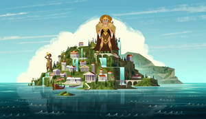 Queen Giantess Hippolyta at Themyscira