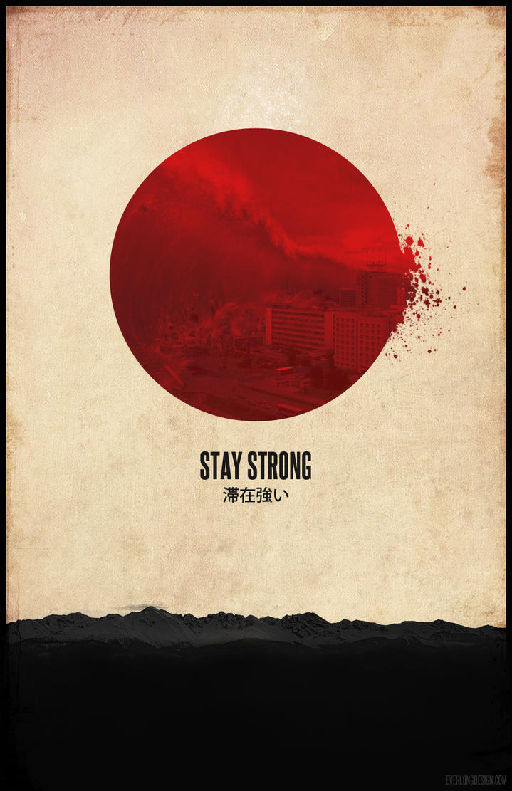 Japan disaster poster by Everlongdesign