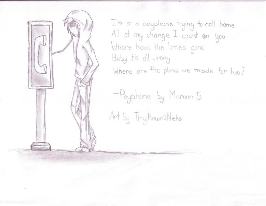 Payphone Maroon 5 By Tinykawaiineko On Deviantart