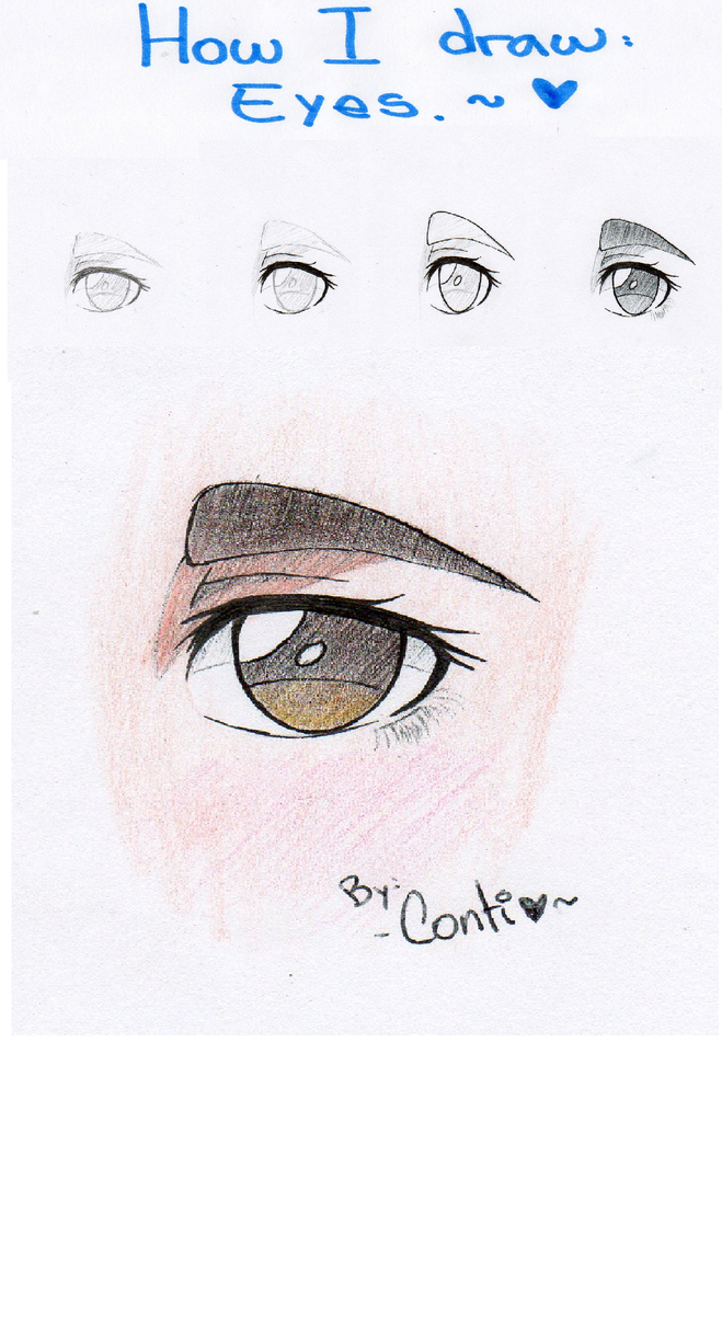 How I draw: Eyes.~ by NekoTatsuko