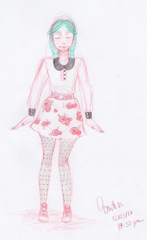 [Sketch] Outfit... by NekoTatsuko