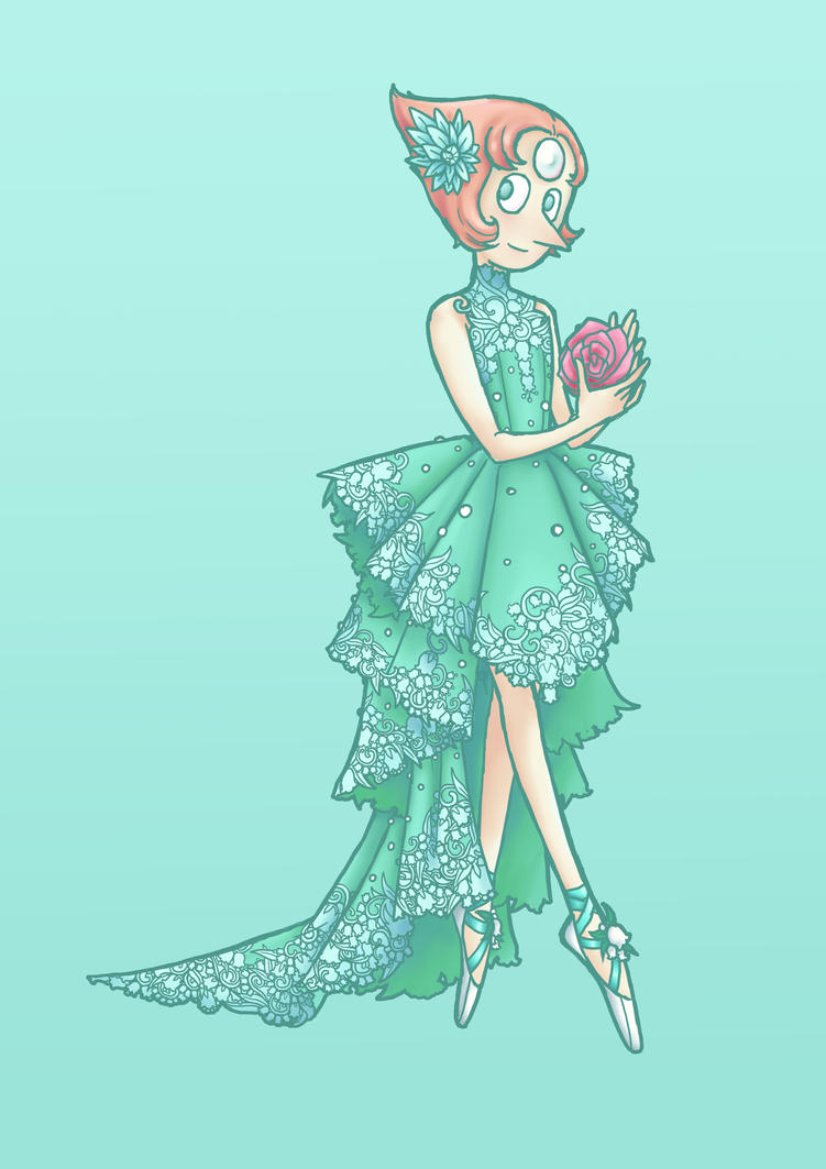 it's been a while since I drew any Steven Universe fan art   I hadn't watched the show in a while, not since the hiatus went up, and I had a hard time coming up with a dress design for Pearl. ...