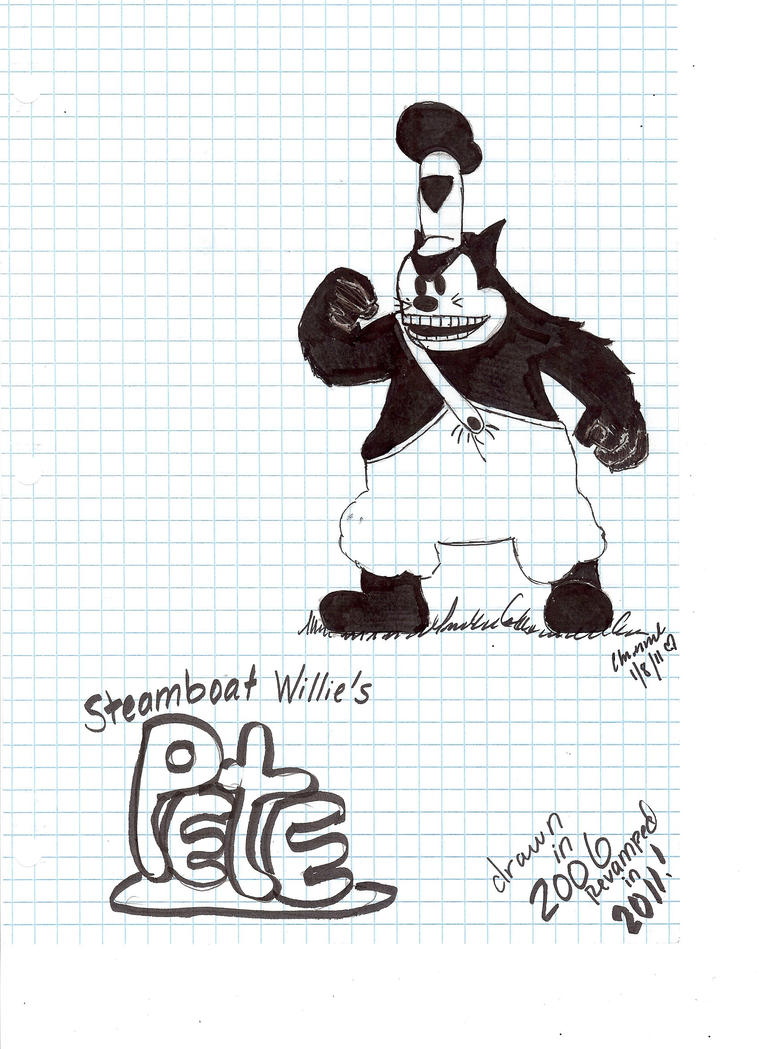 how to draw steamboat willie