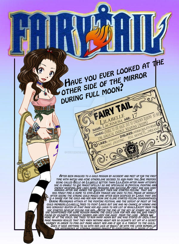 Lilabelle Lacrimosa ID card - Fairy Tail oc by SophieScarlet
