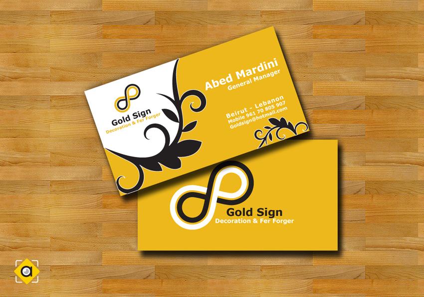 gold sign visit card by alibacha on DeviantArt