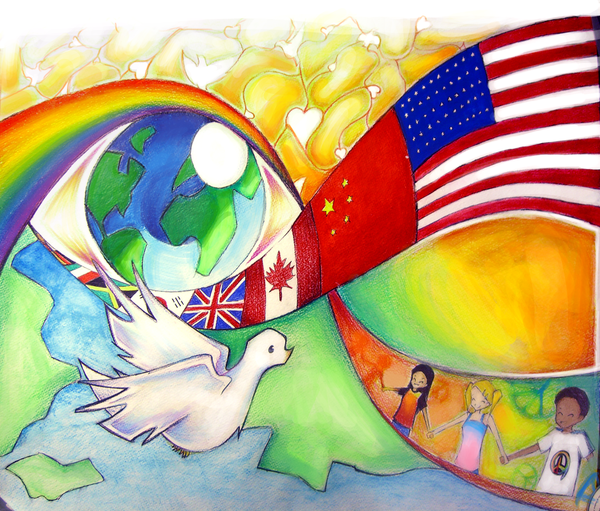 Peace poster by renicrat on deviantart for Making prints of paintings