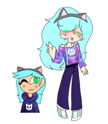 [REDESIGN REQUEST1] Galaxy Meow by LittleGalaxyGirl