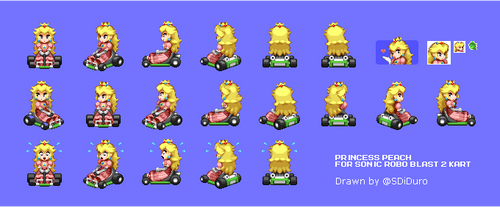 Princess Peach for Sonic Robo Blast 2 Kart by SpacemanStrife