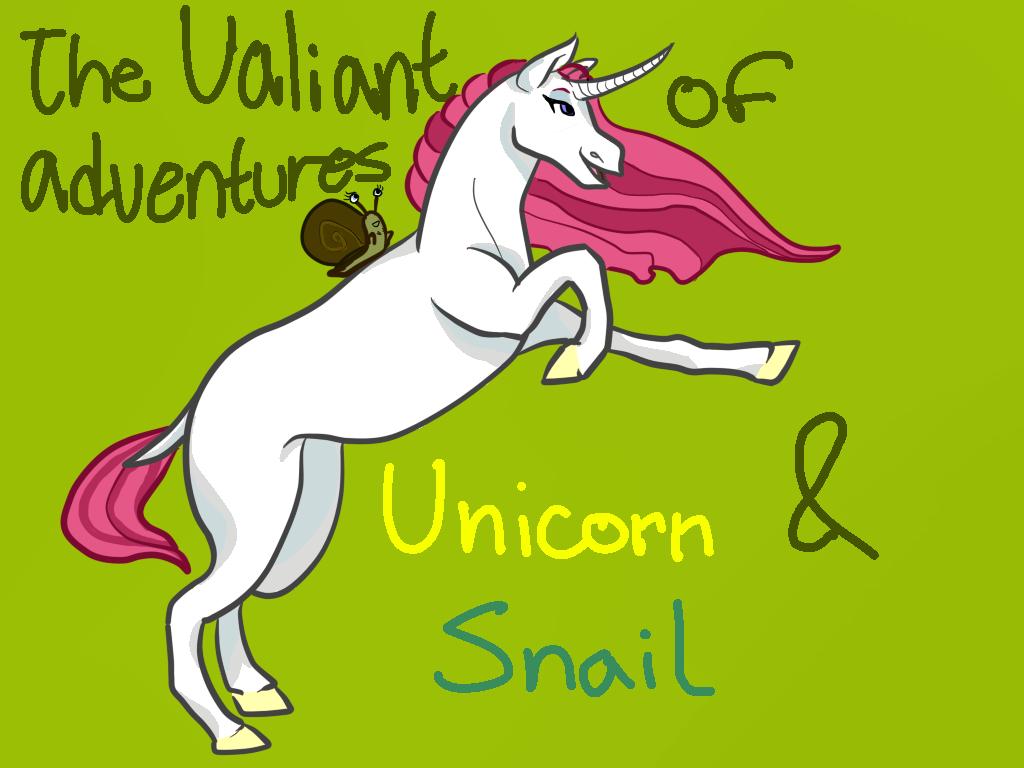 Valiant Adventures of Unicorn and Snail by Dragonair13