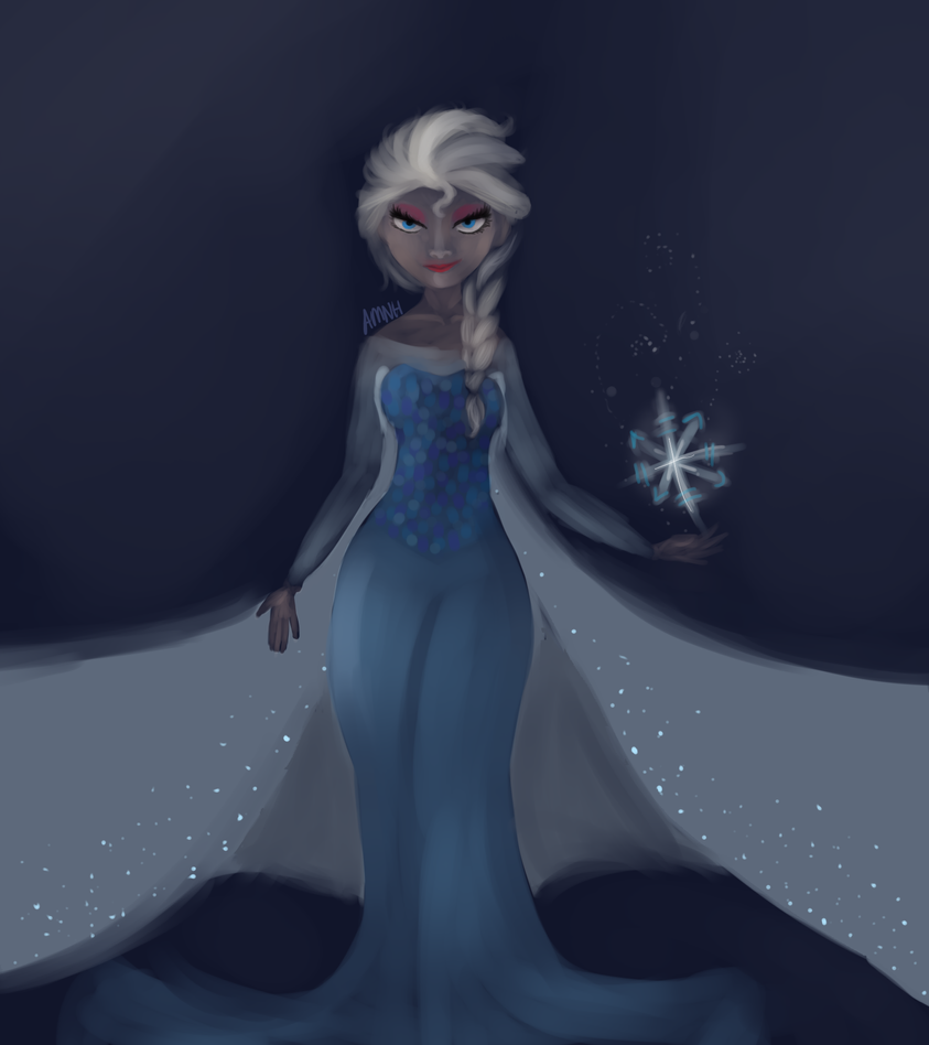 Creepy Paint - Elsa by Dragonair13