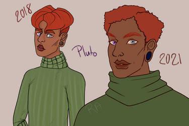 Pluto Redraw 2018 Vs 2021