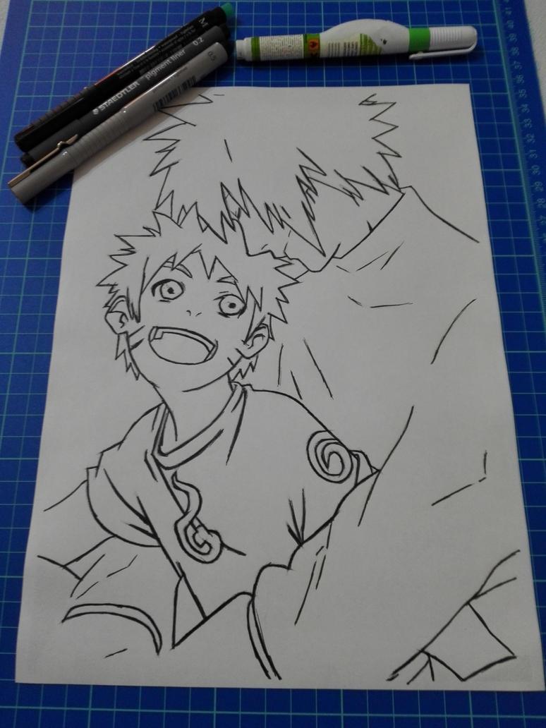 Chibi Naruto and Minato by Yondaime83