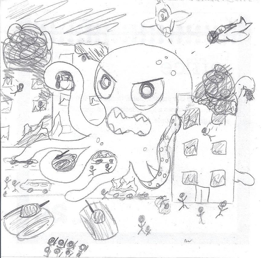 Evil octopus cartoon - photo#18