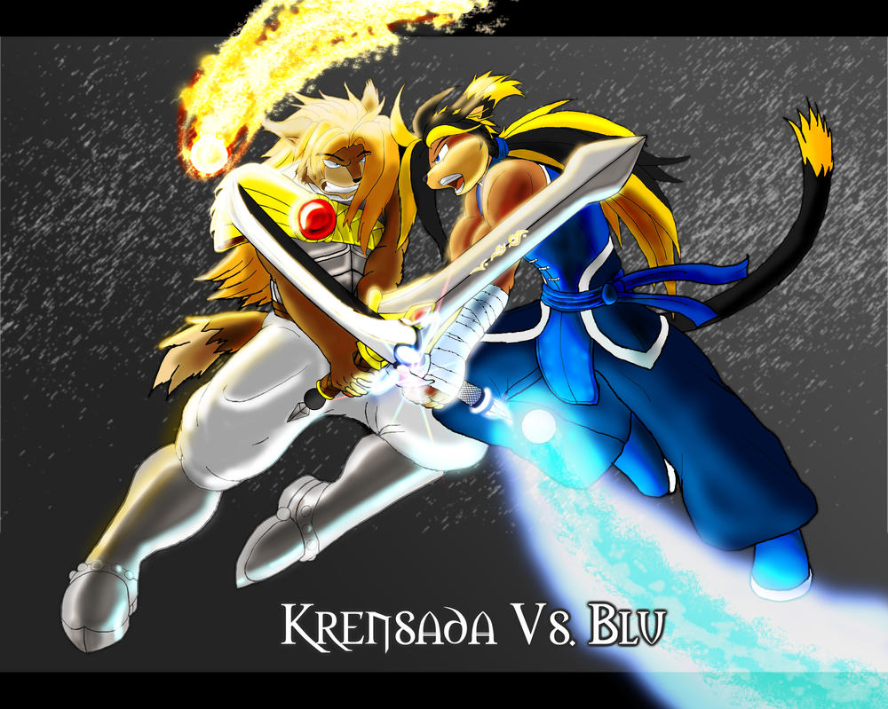 Krensada vs Blu by Blucaracal