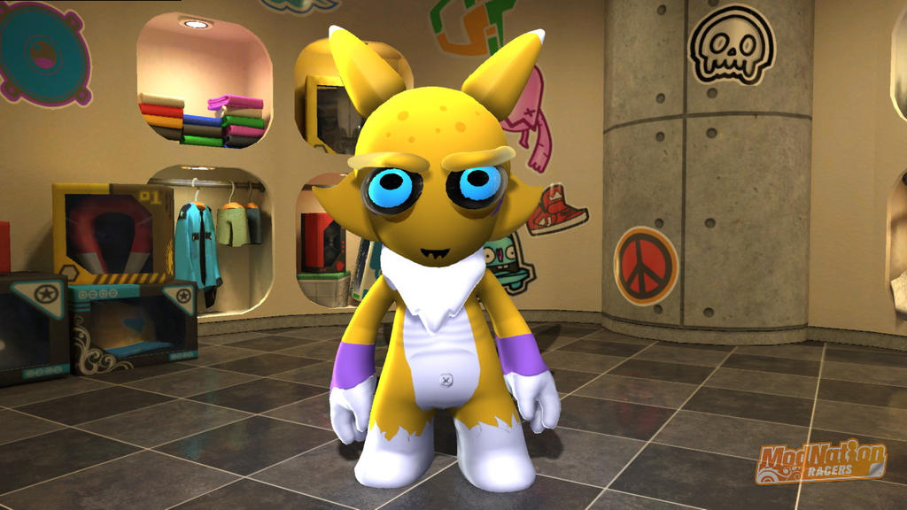 ModNation Racers Renamon Hoek by Blucaracal