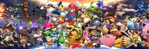 Super Smash Bros collage with BKGR