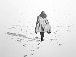 Long chill shadows - Inktober 2019 - snow