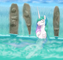 Hot Spring Stress Relief by LifesHarbinger