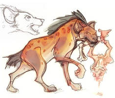 And one badly colored hyena. by EndingTheTale