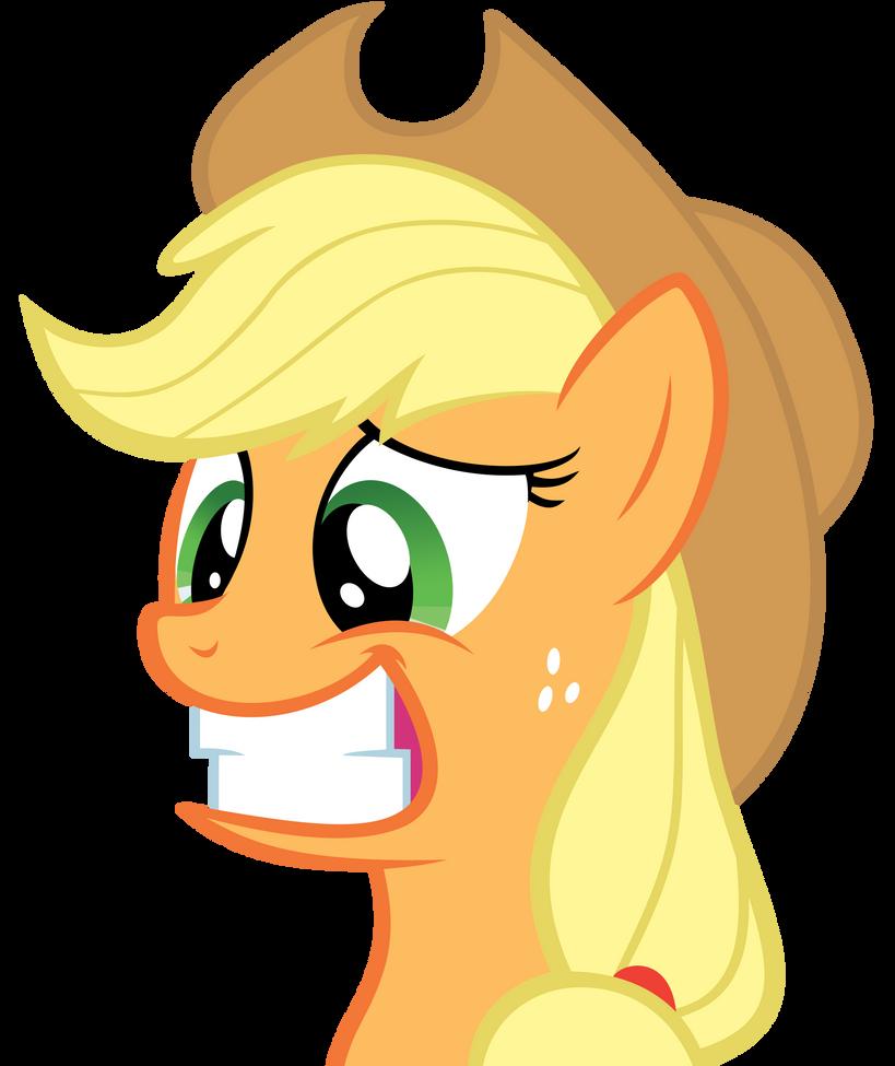 Apple Jack Awkward Smile by Bronyvectors
