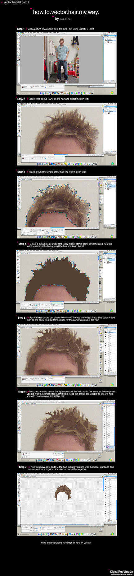 tutorial.vector.hair by Scazza