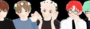 [MMD] 7 BTS boys 1 WIP