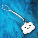 happy cloud keychain