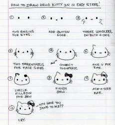 How to draw Hello Kitty by ilovegravy