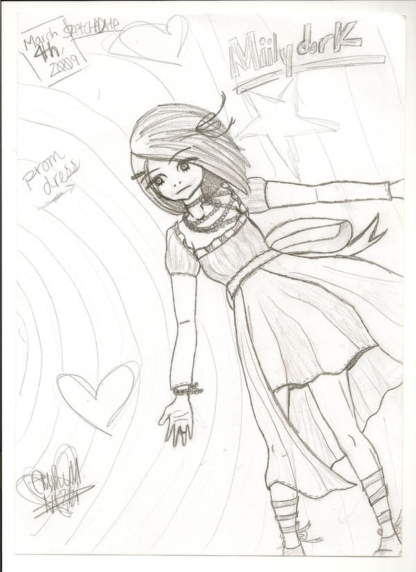 Mii\'s Prom Dress Sketch by Miilydork on DeviantArt