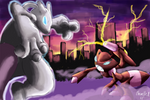 Mewtwo vs Shiny Genesect