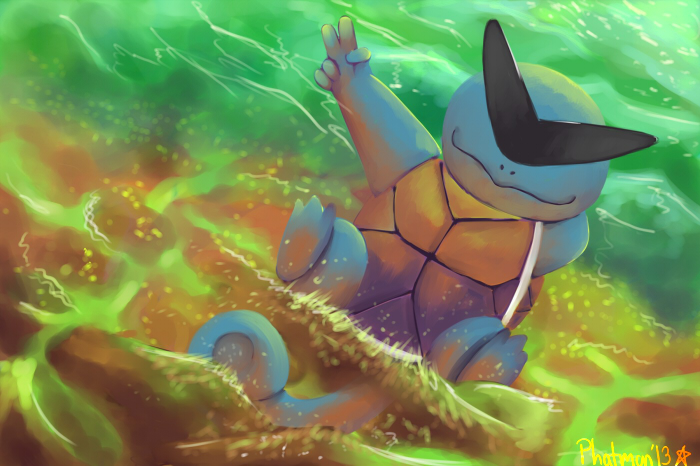 Squirtle the Boss by Phatmon