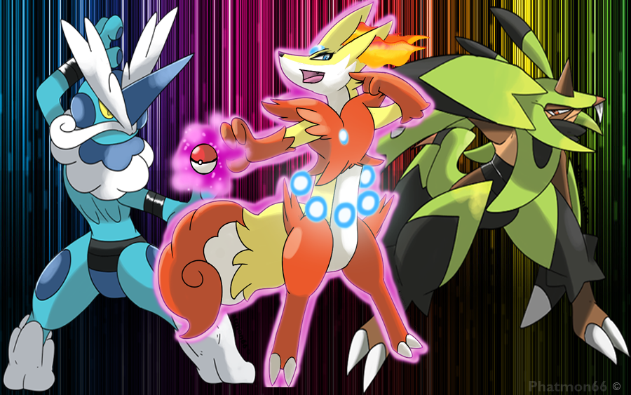 Pokemon X and Y Pick your starter by Phatmon66