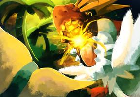 Prehistoric Battle Tyrantrum vs Aurorus by Phatmon